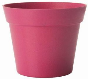 jardindeco - pot d�co rose en bambou et r�sine 19x17cm - Cache Pot