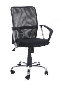 KOKOON DESIGN - fauteuil de bureau réglable en mesh noir 47x47x43- - Fauteuil De Bureau