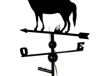 BARCLER - girouette cheval en fer forg� 104x47x47cm - Girouette