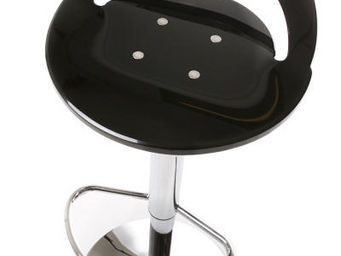 jardindeco - tabouret de bar noir button 37x37x58-78cm - Chaise Haute De Bar