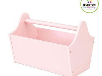 KidKraft - caisse porte-jouets en bois rose 33x23x23cm - Caisse De Rangement