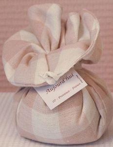 Le Bel Aujourd'hui - fleur de lin en lin vichy rose - Sachet Parfum�