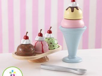 KidKraft - service coupe glac�e en bois pour enfant - Jouets De Poup�e