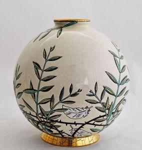 Emaux de Longwy 1798 - rameaux de paix - Boule Décorative