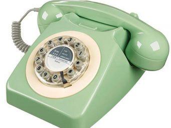 WHITE LABEL - t�l�phone 746 vert su�dois - T�l�phone D�coratif