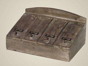 L'HERITIER DU TEMPS - bo�te � couvert � rabats en bois - Range Couverts