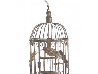 L'HERITIER DU TEMPS - cage � oiseaux ronde - 43 cm - Cage � Oiseaux