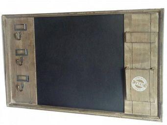 L'HERITIER DU TEMPS - ardoise porte cl�s en bois - Ardoise Murale