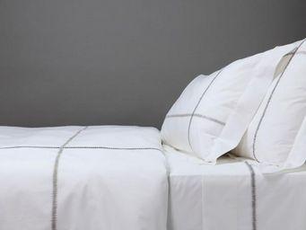BLANC D'IVOIRE - charles - parure de lit mastic - Parure De Lit
