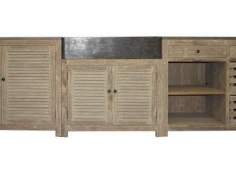 MADE IN MEUBLES - meuble cuisine � clayettes authentiq en vieux pin - Meuble De Cuisine