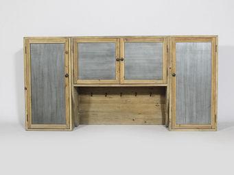 MADE IN MEUBLES - etagere 4 portes authentiq en pin recycl� naturel - Meuble De Cuisine