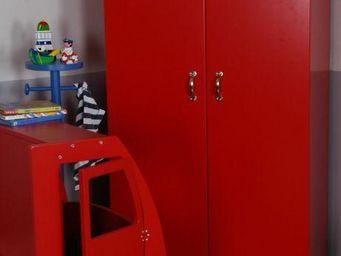 OCTAVE ET LEONTINE - vestiaire rouge - Armoire Enfant