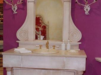 PROVENCE ET FILS - ensemble recamier avec trumeau / vasque incluse /s - Meuble Vasque