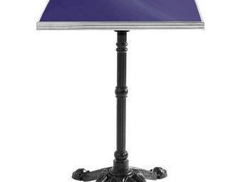 Ardamez - table de bistrot émaillée bleu / inox / fonte - Table Bistrot