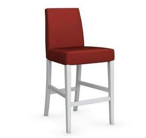Calligaris - chaise de bar latina de calligaris rouge et hêtre  - Chaise Haute De Bar