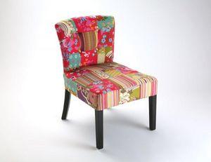 WHITE LABEL - rio fauteuil patchwork - Fauteuil Bas