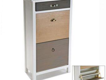 WHITE LABEL - meuble � chaussure field de 2 portes 1 tiroir - Meuble � Chaussures