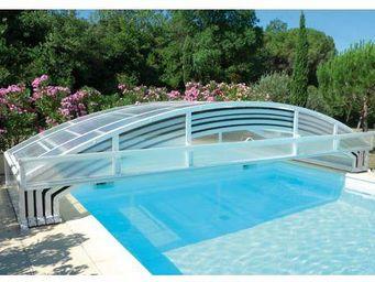 Abrideal - mezzo piscine - Abri De Piscine Bas Coulissant Ou Télescopique