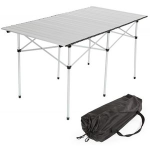 WHITE LABEL - table de camping jardin pique-nique aluminium pliante 140x70 cm - Table De Camping
