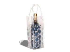 WHITE LABEL - sac réfrigérant - refroidisseur de boisson transpa - Rafraîchisseur À Bouteille
