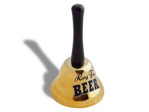WHITE LABEL - sonnette à secouer ring for beer objet deco maison - Clochette