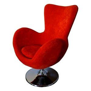 Mathi Design - fauteuil cocoon velours b - Fauteuil Rotatif