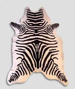 WHITE LABEL - tapis en peau de vache imp zebre - Peau De Zèbre