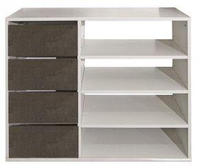 WHITE LABEL - meuble � chaussures mirage blanc design 4 tiroirs - Meuble � Chaussures