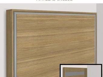 WHITE LABEL - armoire lit escamotable athena, chêne. matelas tre - Armoire Lit