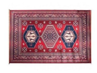 WHITE LABEL - tapis jar dutchbone rouge - Tapis Berbère