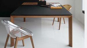 Calligaris - table repas extensible sigma glass 140x140 de call - Table De Repas Carrée