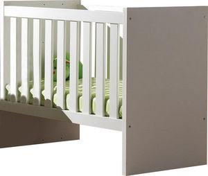 WHITE LABEL - lit bébé évolutif coloris blanc - Lit Bébé