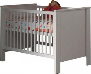 WHITE LABEL - lit bébé 70x140 cm coloris blanc - Lit Pliant Bébé