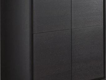 WHITE LABEL - meuble de bar salle � manger coloris ch�ne gris - Meuble Bar