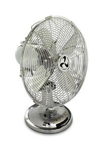 Casafan - ventilateur table 100 % chromé pale de 30 cm, avec - Ventilateur