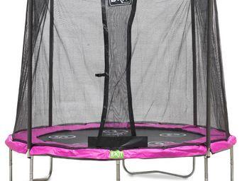 EXIT TOYS - trampoline réversible twist rose 244cm - Trampoline
