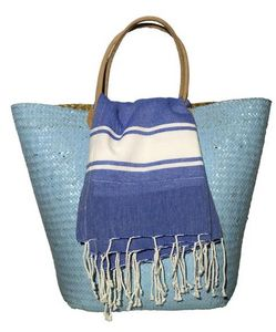 BYROOM - royal blue - Fouta Serviette De Hammam