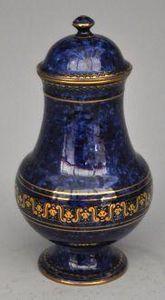 Demeure et Jardin - cassolette bleue fa�on s�vres - Pot � Pharmacie