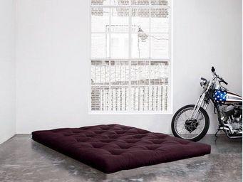 WHITE LABEL - matelas futon coco violet 200*200*16cm - Futon