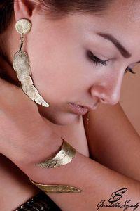 SZENDY GRINHILDA - feuilles - Parure De Bijoux