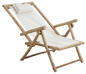 Aubry-Gaspard - chaise relax pliante en bambou - Chaise De Jardin Pliante