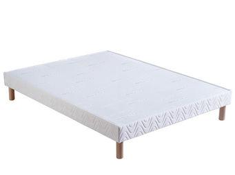 Bultex - sommier confort ferme 2x90x200 bultex - Sommier Fixe À Lattes