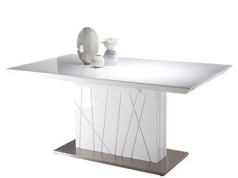 WHITE LABEL - table de repas à allonges - imperial - l 160 / 200 - Table De Repas Carrée