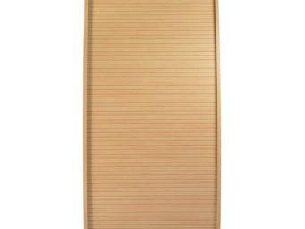 WHITE LABEL - colonne informatique à rideau chêne taille l - inf - Armoire De Bureau