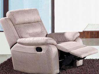 WHITE LABEL - fauteuil relax électrique microfibre - accio - l 9 - Fauteuil De Relaxation
