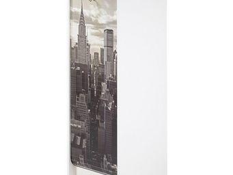 WHITE LABEL - classeur à rideaux blanc - curtain n°1 - l 38 x l - Armoire À Rideaux
