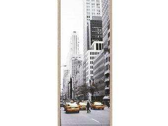 WHITE LABEL - classeur à rideaux bois - curtain n°2 - l 38 x l 3 - Armoire À Rideaux