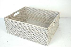 BaolgiChic - rotin blanc - Panier De Rangement