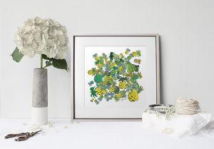 la Magie dans l'Image - print art ananas - Tableau Décoratif