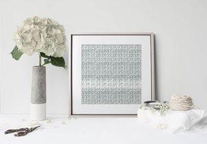 la Magie dans l'Image - print art anis vert-de-gris blanc - Estampe